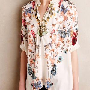 Anthropologie Pankaj & Nidhi Flutter Kimono L